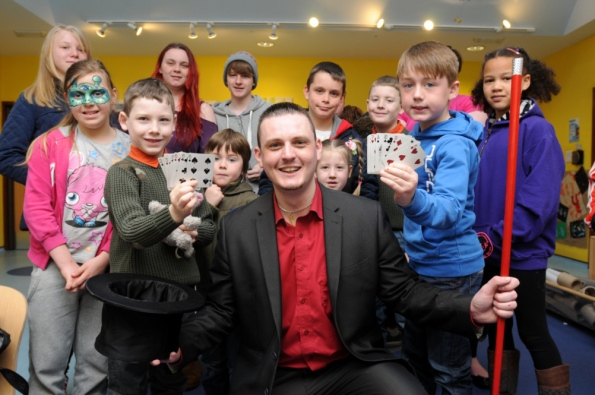 Kids magician north east newcastle upon tyne